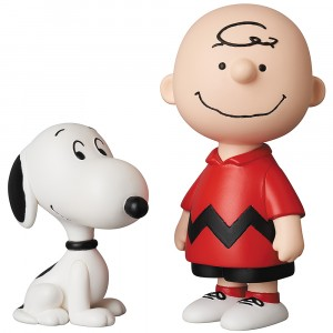PREORDER - Medicom UDF Peanuts Series 10 Charlie Brown And Snoopy Ultra Detail Figure (red)
