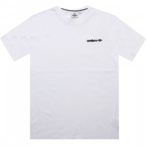 Umbro Lever Short Sleeve Tee (white / black)