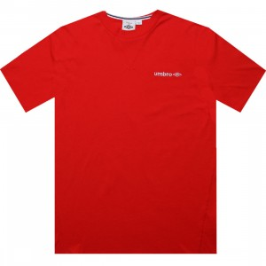 Umbro Lever Short Sleeve Tee (bittersweet red)