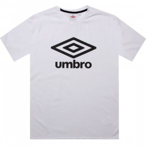 Umbro Fettes Logo Tee (white / black)