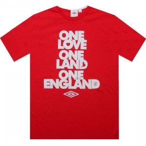 Umbro One England Tee (vermillion red)