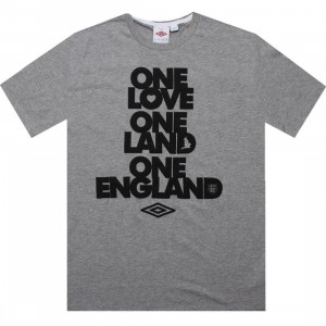 Umbro One England Tee (dark grey marl)