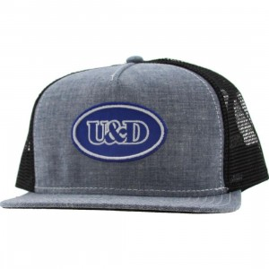 Undefeated U And D Patch Trucker Snapback Cap (blue chambray)