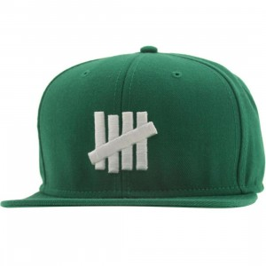 Undefeated 5 Strike Snapback Cap (kelly)