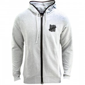 Undefeated Men Vincent Zip Hoodie (gray / gray heather)