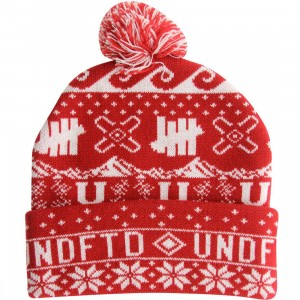 Undefeated Ascender Pom-Pom Beanie (red)