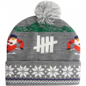 Undefeated Slalom Pom-Pom Beanie (gray / grey heather)