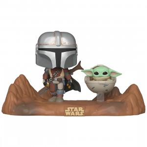 PREORDER - Funko POP Moment Star Wars The Mandalorian - Mandalorian And Child (brown)