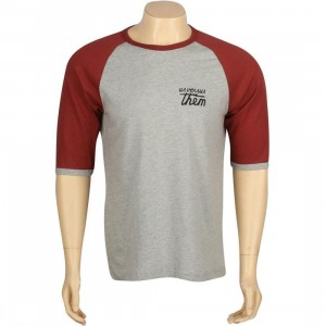 Us Versus Them Articles Raglan (red / grey heather)