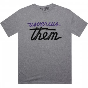 Us Versus Them Mag Banner Tee (heather grey)