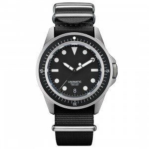 Unimatic U1-FD Diving Watch Kit - Limited Edition of 600 (black / silver)