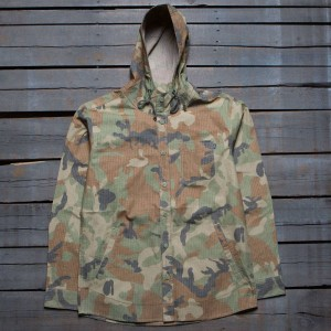 Acapulco Gold Men Hooded Field Shirt (brown / camo)