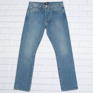 Stussy Men USA Light Wash Denim Jeans (blue)