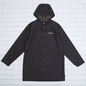 Stussy Men Tony Long Hooded Coaches Jacket (black)