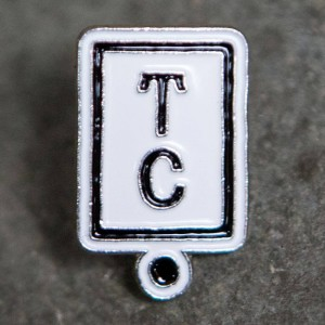 Team Cozy Logo Pin (white / black)