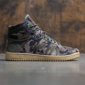 Adidas Men Top Ten Hi (camo / base green / gum / core black)