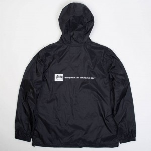 Stussy Men Nylon Ripstock Pullover Jacket (black)