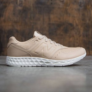 New Balance Men 574 Fresh Foam Leather MFL574TA (tan / white)