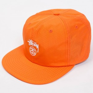Stussy Stock Lock Honeycomb Strapback Cap (orange)