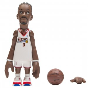 MINDstyle x Coolrain NBA Legends Philadelphia 76ers Allen Iverson Figure (white)