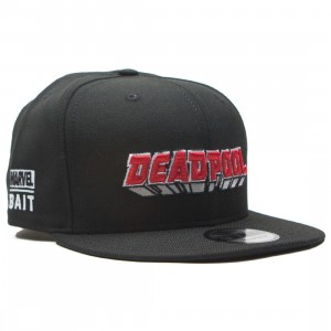 BAIT x New Era x Marvel Deadpool Logo Snapback Cap (black)