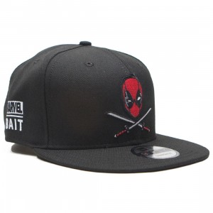 BAIT x New Era x Marvel Deadpool Swords Snapback Cap (black)