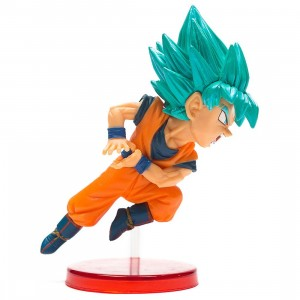Banpresto Dragon Ball Super World Collectable Figure Vol 9 - Super Saiyan Blue Goku Figure (orange)