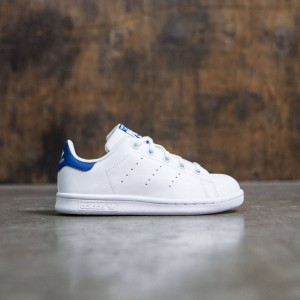 Adidas Little Kids Stan Smith (white / footwear white / eqt blue)