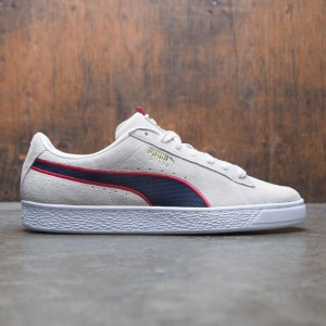 Puma Men Suede Classic Sport Stripes (gray / red)