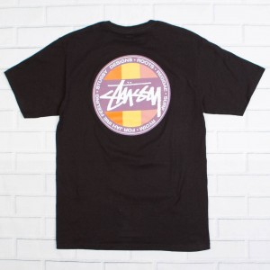 Stussy Men Reggae Surf Dot Tee (black)