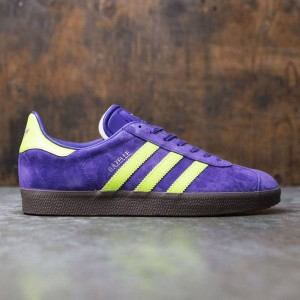 Adidas Men Gazelle (purple / solar yellow / gum)