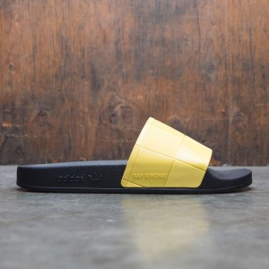 Adidas x Raf Simons Men Adilette Checkerboard (black / core black / super lemon)