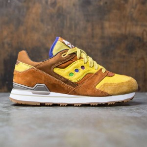 Saucony x Feature Men Courageous - Belgian Waffle (brown / yellow)