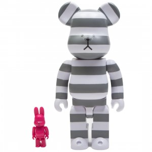 Medicom Craftholic 100% Rabbrick 400% Bearbrick Figure Set (white / pink)