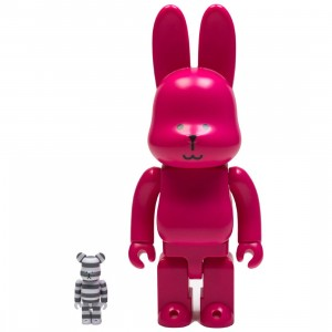Medicom Craftholic 100% Bearbrick 400% Rabbrick Figure Set (pink / white)