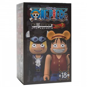 Medicom One Piece Vol.2 100% Bearbrick Figure Keychain - 1 Blind Box
