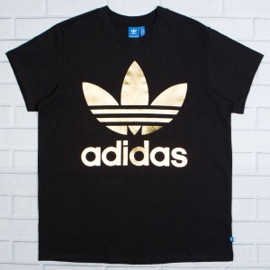 Adidas Women Big Trefoil Tee (black)