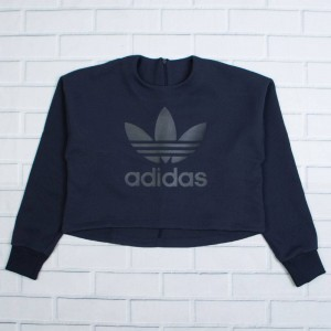 Adidas Women Trefoil Logo Sweatshirt (blue / legend ink)