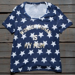 Eleven Paris x DC Wonder Woman Women Wonder Mom Tee (blue / mult)