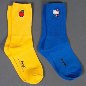 Lazy Oaf x Hello Kitty Women Sock Pack 2 (white / blue)