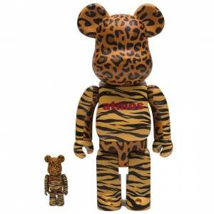 Medicom Atmos Animal 100% 400% Bearbrick Figure Set (brown)