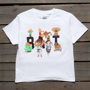 BAIT x Street Fighter Chibi Group Youth Tee (white)