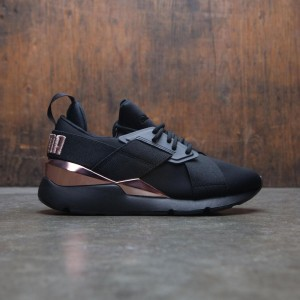 Puma Women Muse Metal (black / rose gold)