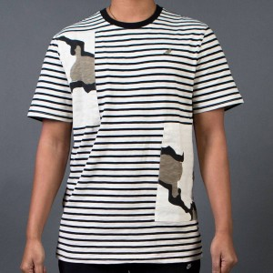 Staple Men Ambushed Striped Tee (black)