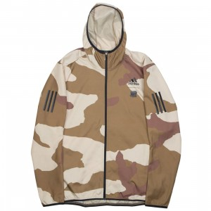 Adidas x Undefeated Men Response Hooded Wind Jacket (tan / dune / tactile khaki / base khaki)