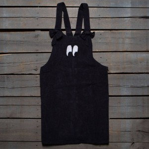 Lazy Oaf Women Bow Tie Eyeball Pinafore Dress (black)