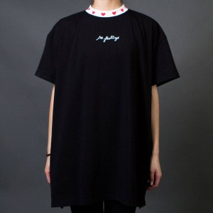 Lazy Oaf Women No Feelings Tee (black) 1S