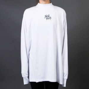Lazy Oaf Women Total Mess Long Sleeve Tee (white) 1S