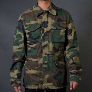 Alpha Industries Men Revival Field Coat (camo / woodland)