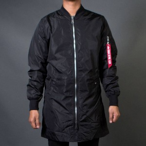 Alpha Industries Men L2B Long Flight Jacket (black)